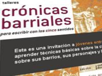 Crónicas Barriales: para escribir con los cinco sentidos