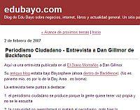 Periodismo Ciudadano – Entrevista a Dan Gillmor de Backfence