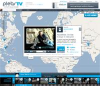 plebsTV, noticias ciudadanas en el mapa