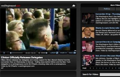 El Washington Post retransmite vídeo en directo vía teléfono móvil