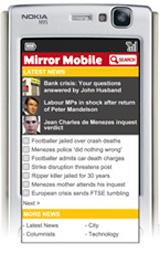Daily Mirror lanza «Mirror mobile». Noticias vía móvil sin registro ni suscripción