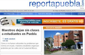 Reportapuebla.com: Periodismo ciudadano desde Méjico para luchar por la libertad de expresión