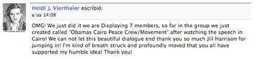 El discurso de Barack Obama desde El Cairo en directo en Facebook