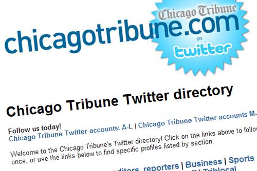 Chicago Tribune Twitter Directory