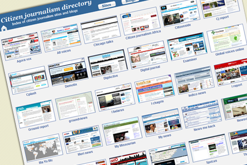 Citizen journalism directory