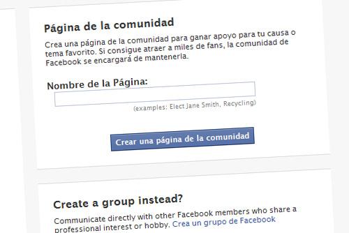 Creación de Páginas de la Comunidad