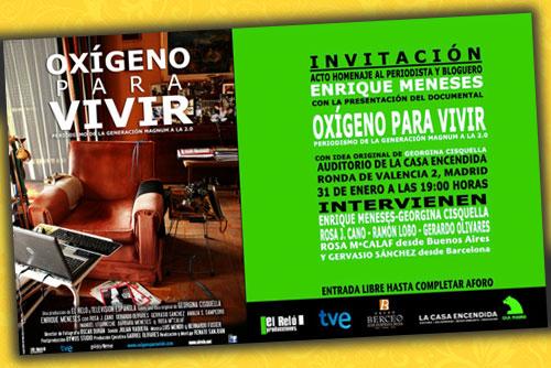 Enrique Meneses|Oxígeno para vivir|