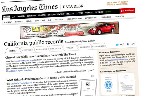 Últimos documentos incorporados a California Public Records|