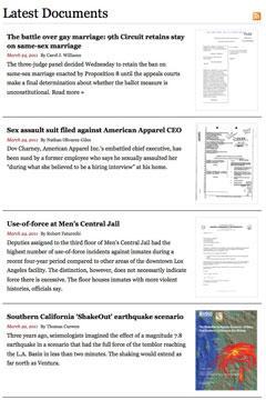 Últimos documentos incorporados a California Public Records