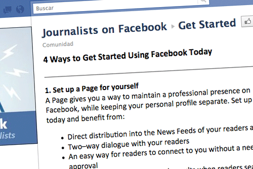 Journalists on Facebook|