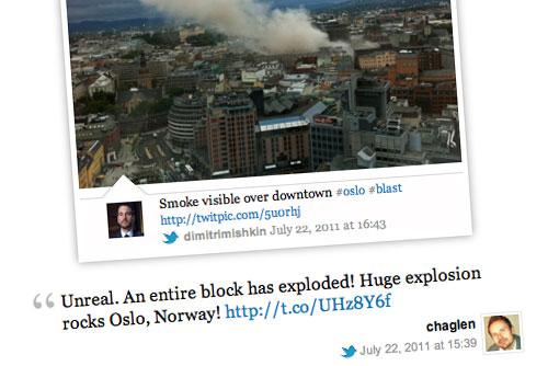 Storify de Gizmodo sobre los atentados de Noruega|