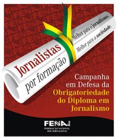 Cartel de la campaña de la FENAJ