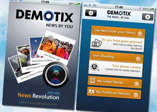 Demotix para iPhone|
