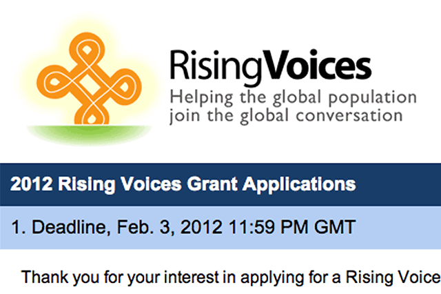 Proyectos becados por Rising Voices|
