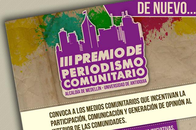 Ganadores del III Premio de Periodismo Comunitario de Medellín|