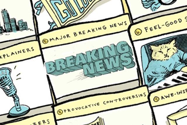 Nueve tipos de noticias locales - Infografía||