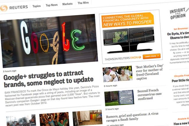 Nueva web de Reuters|