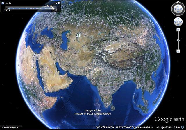 Comparación de imágenes en la línea de tiempo de Google Earth|Comparación de imágenes en la línea de tiempo de Google Earth|