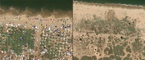 Comparación de imágenes en la línea de tiempo de Google Earth