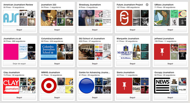 |Periodismo en Pinterest