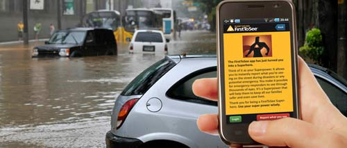 First To See App Flood