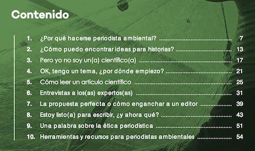 «Qué es y cómo hacer #periodismo ambiental»: una guía gratuita para defensores del medio ambiente
