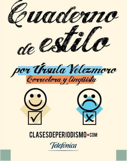 Clases de Periodismo publica una nueva edición ampliada de su «Cuaderno de estilo» #Libros