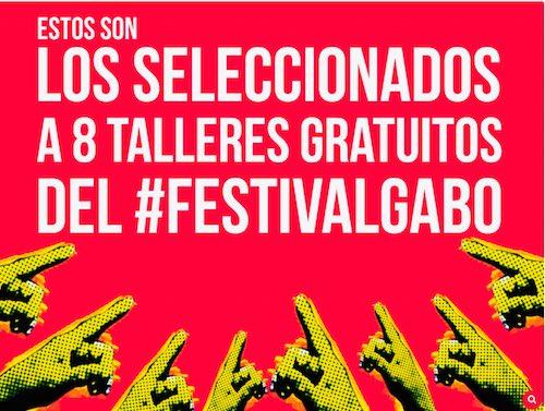 8 talleres gratuitos de #periodismo en el marco del #FestivalGabo