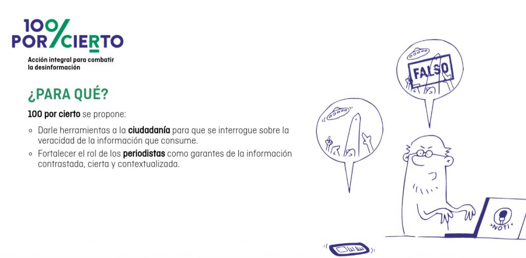#100PorCierto: un nuevo proyecto para luchar contra la desinformación #Fakenews