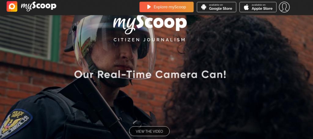 MyScoop Citizen Journalism: una App de periodismo móvil remunerado
