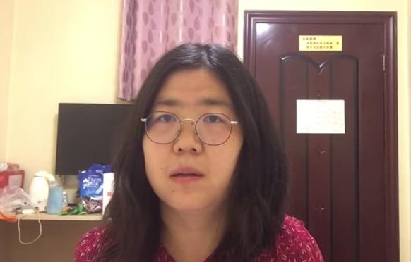 La periodista ciudadana Zhang Zhan, primera persona condenada por cuestionar la información del gobierno chino sobre la Covid19