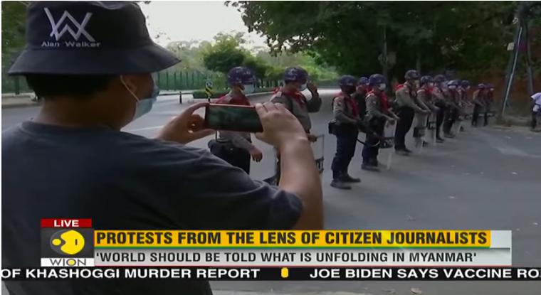 Tras el golpe de estado en Myanmar el periodismo ciudadano saca a la luz la violencia policial